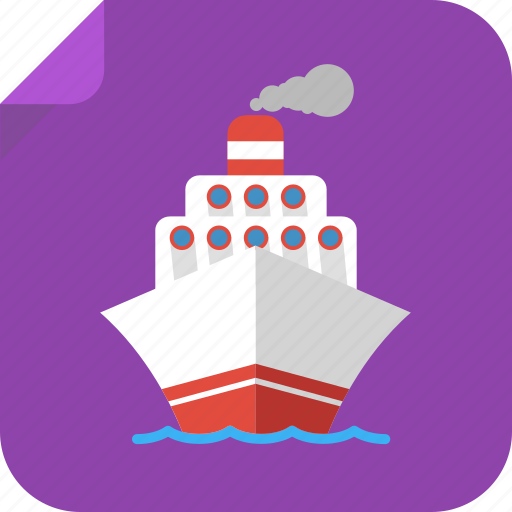 boat, cruise, ocean, sail, sea, ship, transport, travel, wave, yacht icon