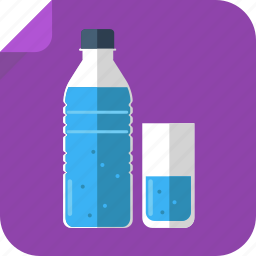 bottle, drink, glass, thirsty, watter icon