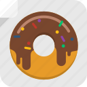 snack, food, dessert, fat, donut, sweet, doughnut