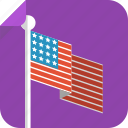 america, flag, pole, us, us flag, usa icon