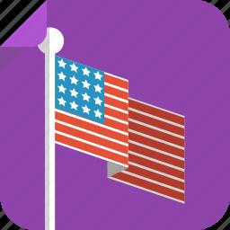 america, flag, pole, us, us flag, usa icon