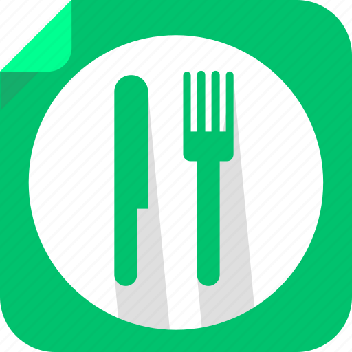 eat, food, fork, knife, lunch, restaurant icon