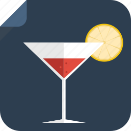 alcohol, cocktail, drink, glass, lemon, soft drink, wine icon