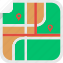 direction, location, locator, lost, map, way icon