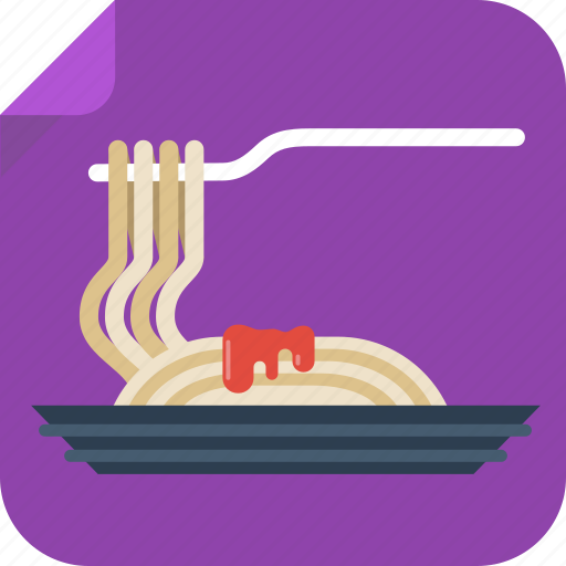 food, italian, noodles, spaghetti icon