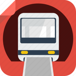 rail, subway, train, tram, tramway, transport, tube, tunnel, underground icon