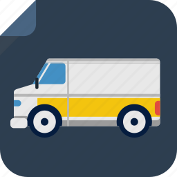 car, delivery, drive, transport, van icon