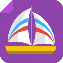 boat, ocean, river, sail, sea, ship, yacht icon