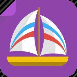 boat, ocean, river, sail, sea, ship, yacht icon
