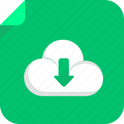 cloud, download, file, web icon