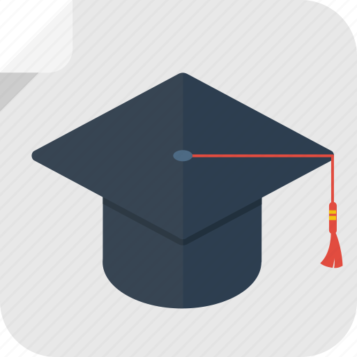 college, degree, diploma, graduation, hat, high school, reward, school, student, study, success, university icon