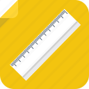 ruler, school, study, tool, work icon