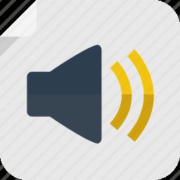 audio, listen, music, noise, sound, speaker, volume icon