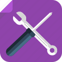 fix, manual, monkey wrench, repair, screwdriver, settings, tools, work icon