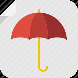 automn, dry, protect, rain, season, sing, spring, storm, umbrella, weather, wet, winter icon