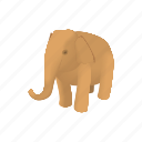 african, animal, cartoon, elephant, nature, trunk, wildlife icon
