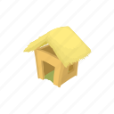 building, cabin, cartoon, home, house, hut, shack icon
