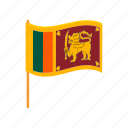 banner, cartoon, country, flag, lanka, national, sri icon