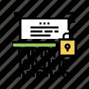 protocol, binary, encryption, ssh, data, security icon