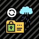 protocol, storage, sftp, transfer, ssh, cloud icon
