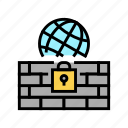 worldwide, sftp, wall, ssh, internet, protection icon