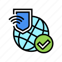 sftp, transfer, ssh, internet, protection, world icon