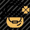 clover, gold, lucky, patrick, pot