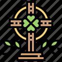 christian, clover, cross, holy, lucky