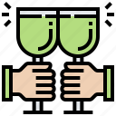alcohol, beverage, celebrate, drink, wine icon