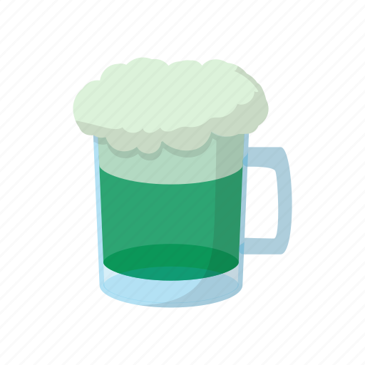 beer, cartoon, day, glass, green, mug, patrick icon