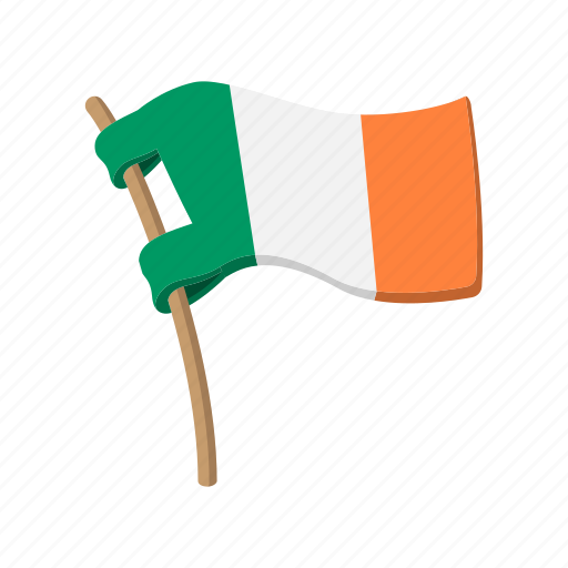 cartoon, country, flag, green, ireland, irish, national icon