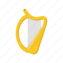 cartoon, harp, irish, leaf, music, patrick, shamrock icon