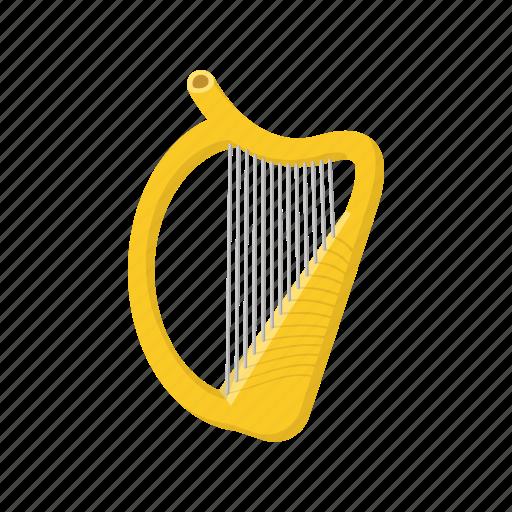 cartoon, harp, irish, leaf, music, patrick, shamrock icon