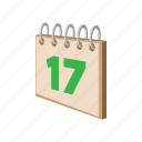 calendar, cartoon, date, day, ireland, irish, patrick icon