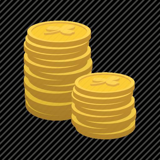 cartoon, coin, day, gold, holiday, irish, wealth icon