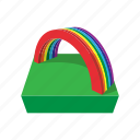 cartoon, coin, day, gold, holiday, patrick, rainbow icon