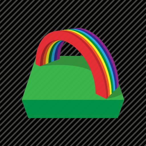 cartoon, coin, day, gold, holiday, patrick, rainbow icon
