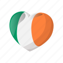 cartoon, decoration, heart, ireland, irish, patrick, st icon