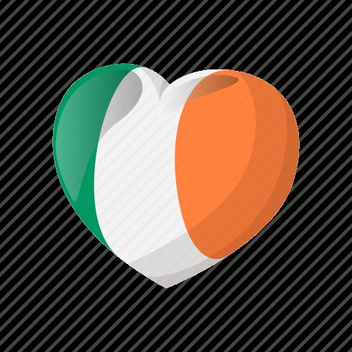 cartoon, decoration, heart, ireland, irish, patrick, st icon