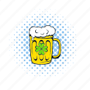 alcohol, beer, comics, froth, lager, mug, pub icon