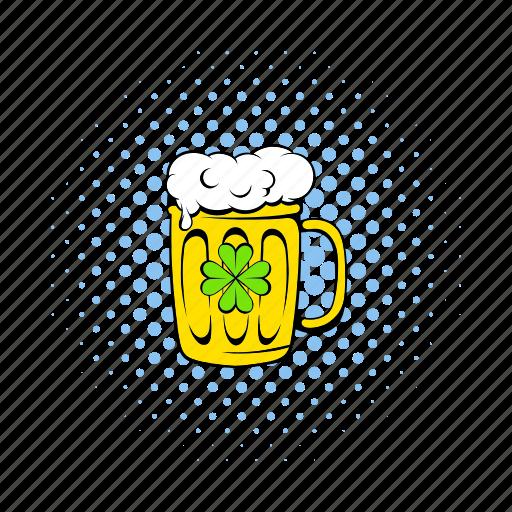 alcohol, beer, comics, froth, lager, mug, pub icon