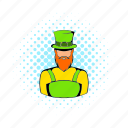 celebration, clover, comics, day, irish, leprechaun, shamrock icon