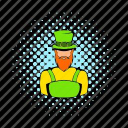 celebration, clover, comics, day, irish, leprechaun, shamrock icon