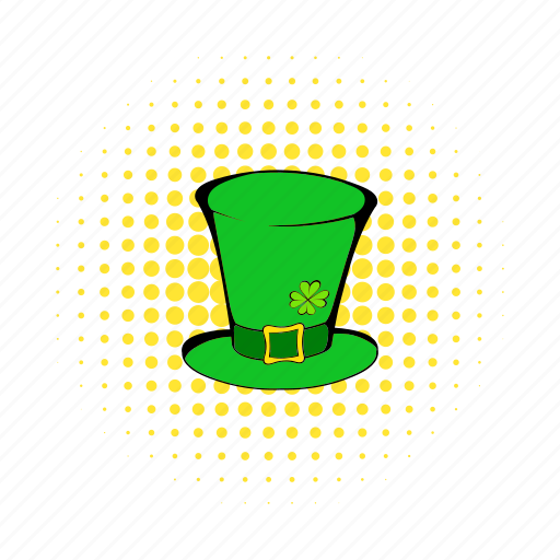 comics, culture, cylinder, day, hat, holiday, leprechaun icon