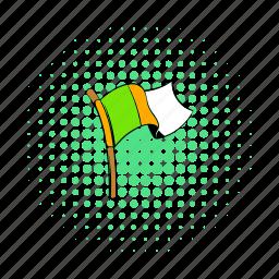 comics, flag, ireland, irish, nation, national, waving icon