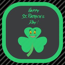 celebration, festival, greeting, irish, saint patrick's day, shamrock, wishes icon