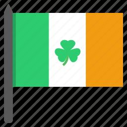 celebrate, festival, flag, ireland, irish, saint patrick's day, shamrock icon