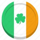 coin, festival, flag, ireland, irish, saint patrick's day, shamrock icon