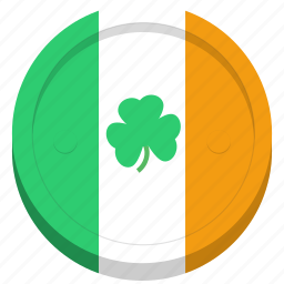 coin, festival, flag, ireland, irish, saint patrick's day, shamrock icon