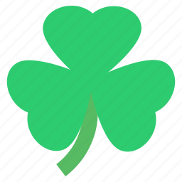 clover, day, leaves, patrick's, saint, shamrock, three icon
